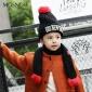 厂家直销加厚保暖儿童帽子 毛线套头帽 男女宝宝冬季护耳帽 MZ853