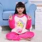 儿童法兰绒睡衣秋冬季长袖套装女童男孩小宝宝卡通保暖家居服批发
