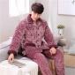 睡衣男士冬季加厚加绒保暖珊瑚绒夹棉青年法兰绒秋冬款家居服套装